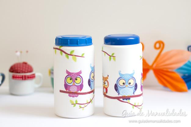 Recicla envases con la t cnica de decoupage gu a de - Manualidades con envases ...