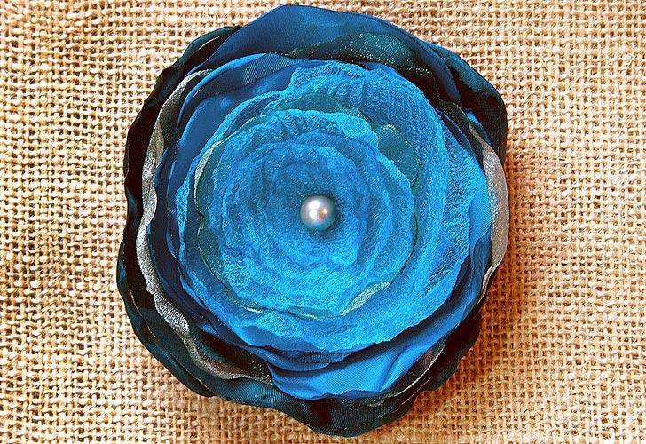Flores de organza DIY 1