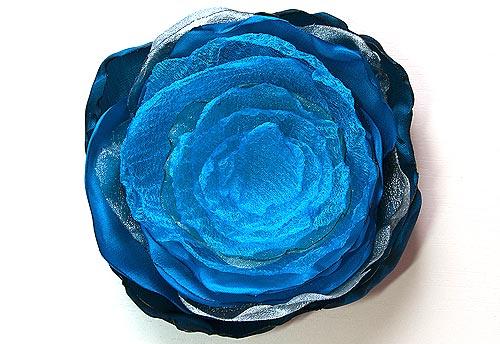 Flores de organza DIY 6