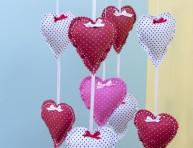 imagen Móvil de corazones para la cuna del bebé