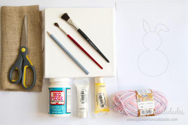 Cuadro DIY conejo 2