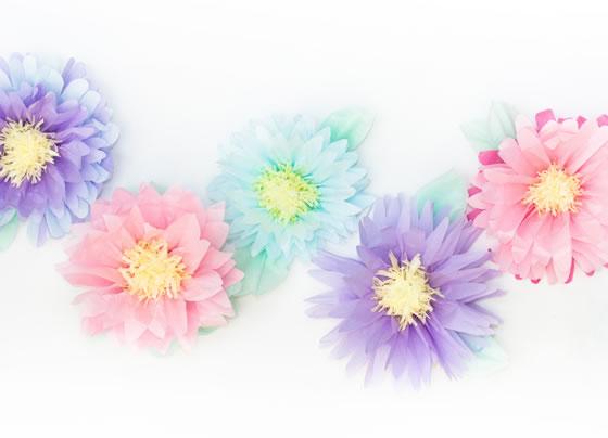 Flores papel tissue