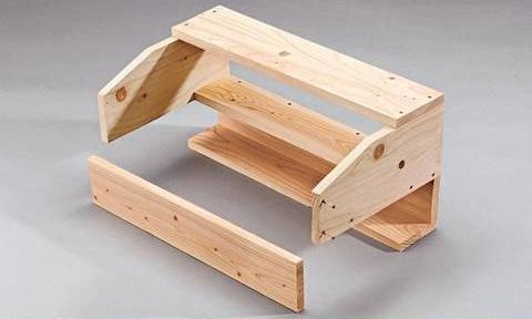 Macetero de madera colgante con estante gu a de manualidades - Maceteros de madera para exterior ...