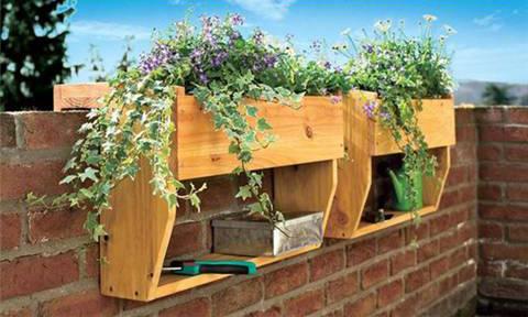 Jardineras colgantes de madera 1