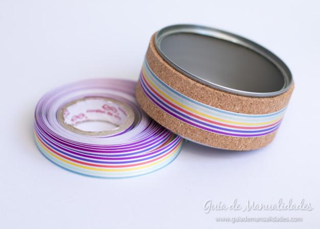 Lapiceros con corcho y washi tapes 11