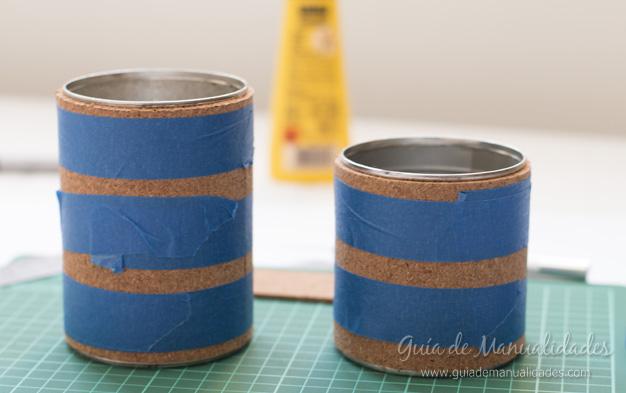 Lapiceros con corcho y washi tapes 6