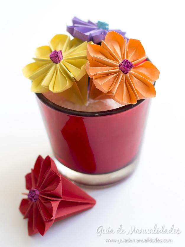 Lirio de agua origami 1