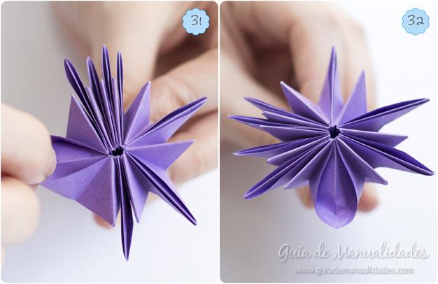 Lirio de agua origami 10