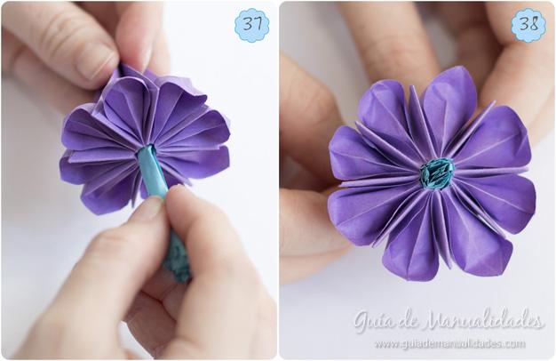 Lirio de agua origami 13