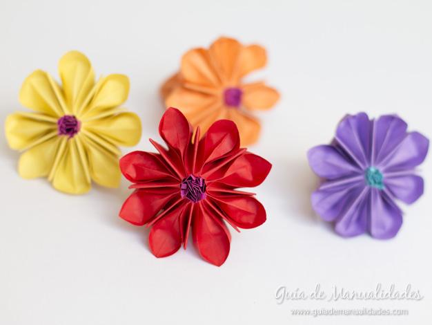 Lirio de agua origami 14
