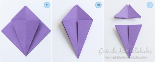 Lirio de agua origami 5