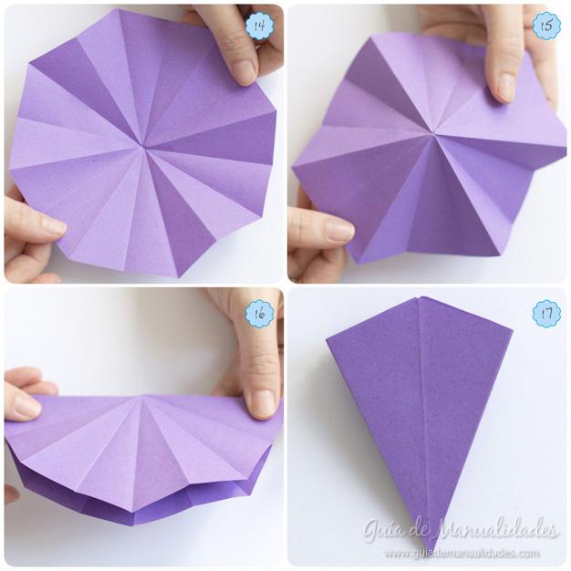 Lirio de agua origami 6