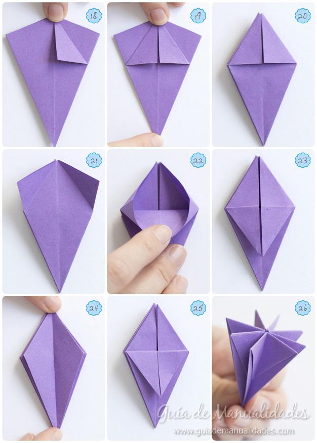 Lirio de agua origami 7
