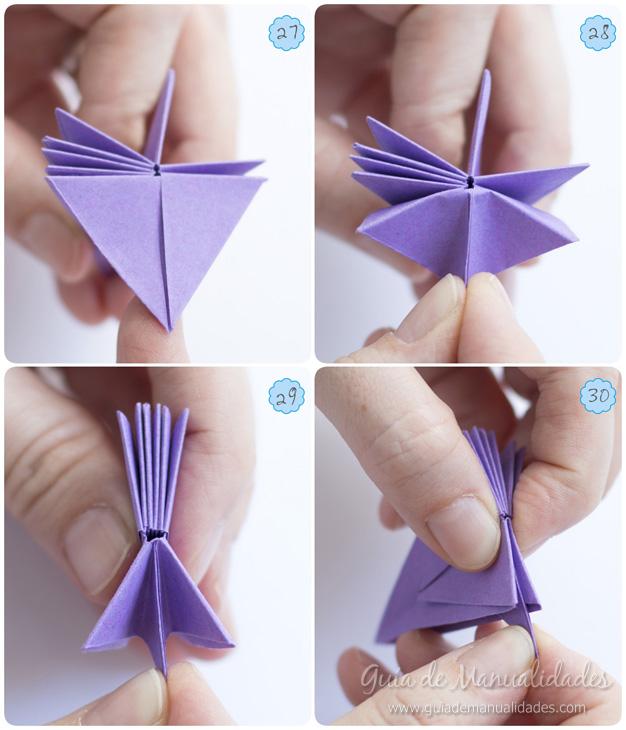 Lirio de agua origami 8