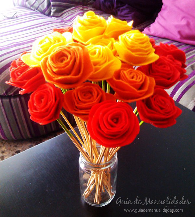 Flores de fieltro 1