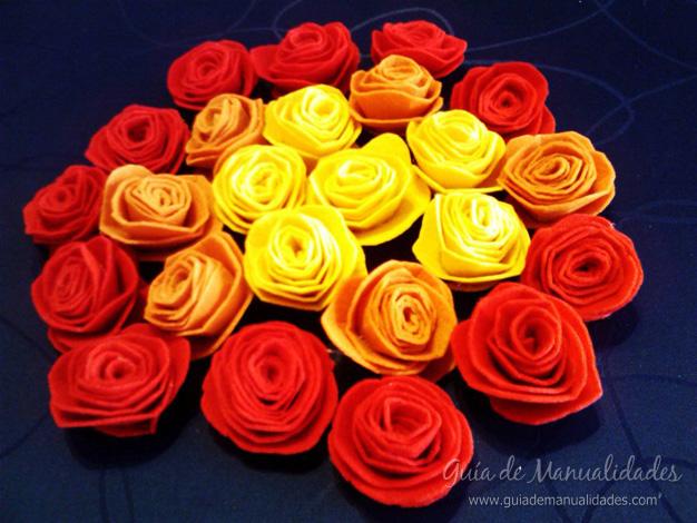 Flores de fieltro 8