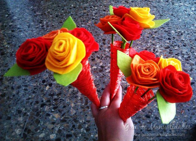 Flores de fieltro 9