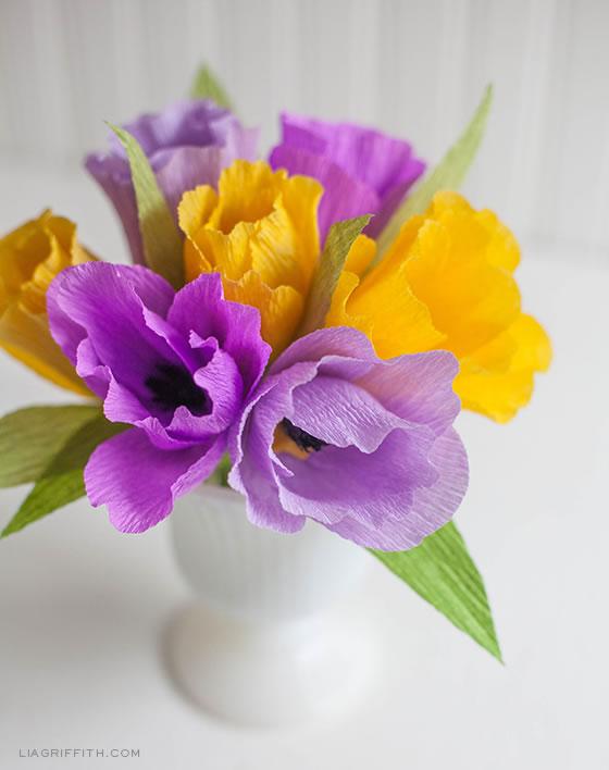 Tulipanes de papel
