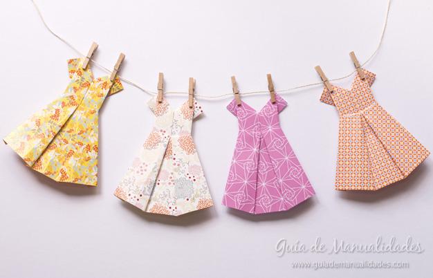 Vestidos De Origami Paso A Paso Guía De Manualidades