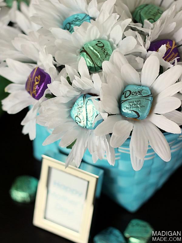 Flores con bombones