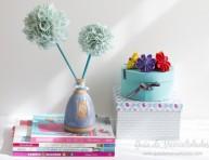 imagen Flores decorativas de tela sin costura