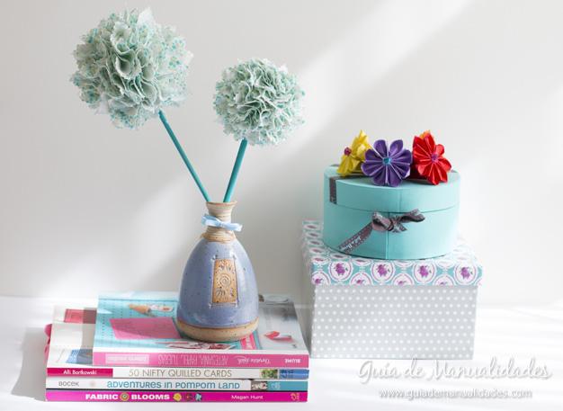 Flores de tela sin coser 1