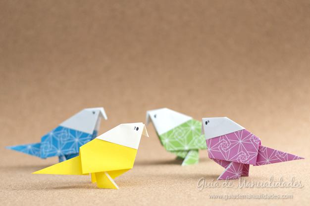 Pajarito origami 1