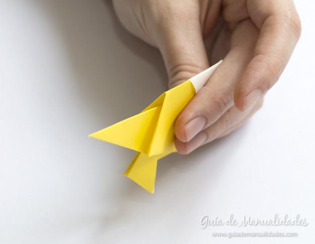 Pajarito origami 10