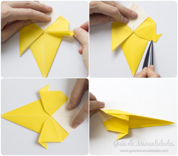 Pajarito origami 7