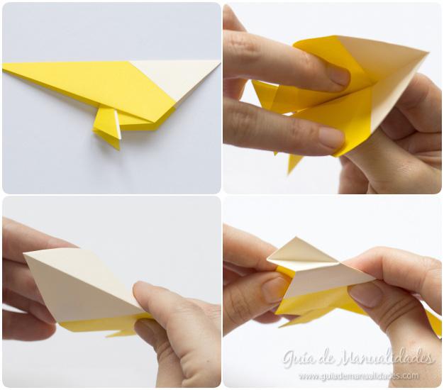Pajarito origami 8
