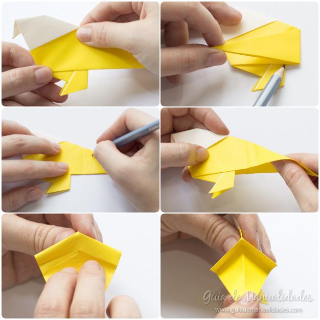 Pajarito origami 9