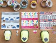 imagen Cómo hacer tu propio papel de diseño con cintas adhesivas