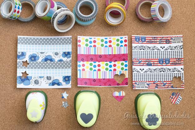 Papel con cintas adhesivas 1