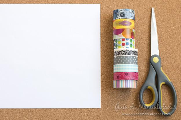 Papel con cintas adhesivas 2
