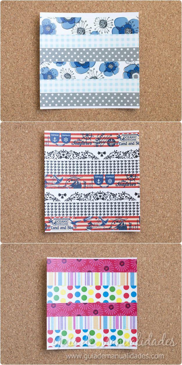 Papel con cintas adhesivas 4