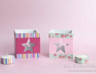 imagen Portavelas pintados y decorados con cinta washi