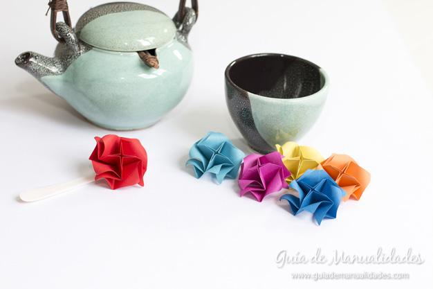 Rosas de origami 1