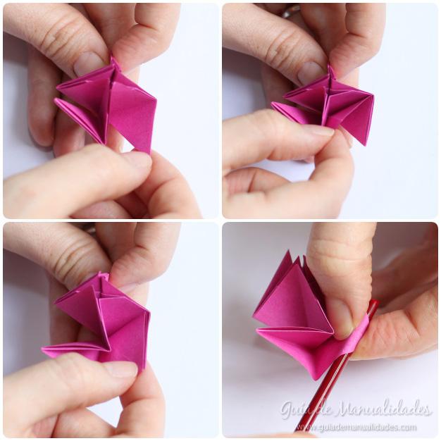 Rosas de origami 11