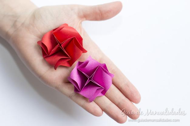 Rosas de origami 13