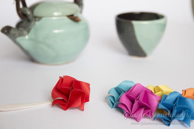 Rosas de origami 14