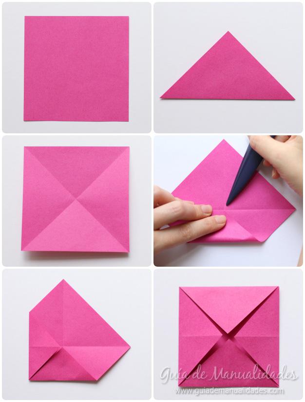 origami rosa de papel