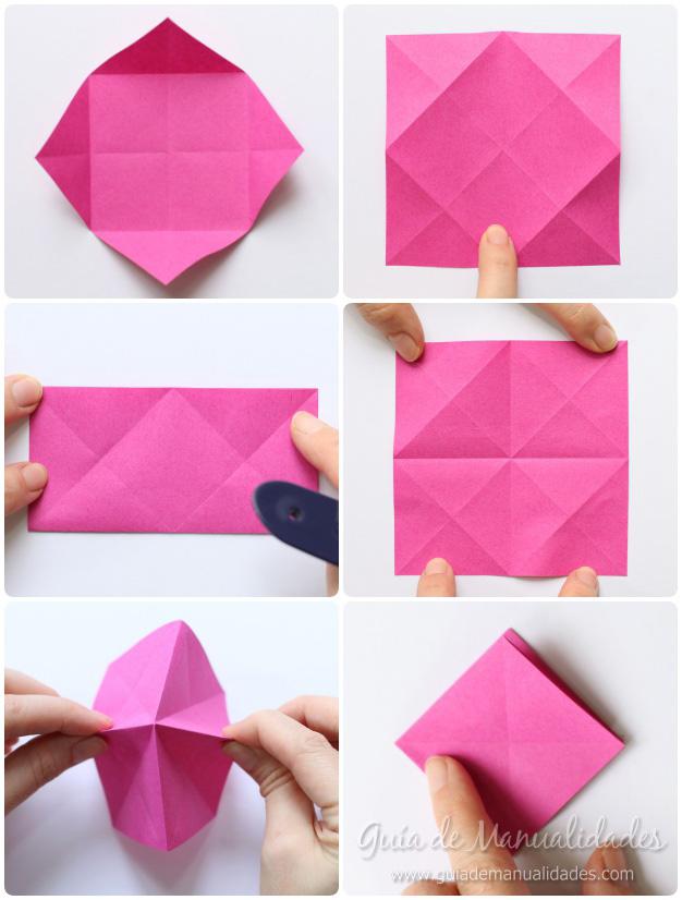 Rosas de origami 4