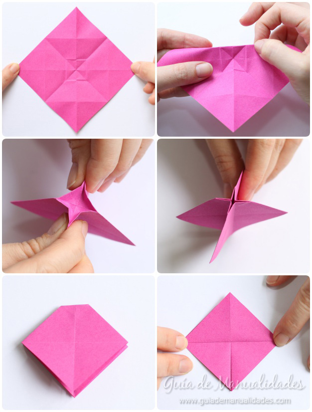 Rosas de origami 7
