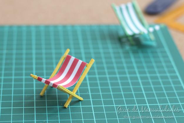 Sillitas de playa diy con palitos de f sforos gu a de for Sillas para jugar a la play