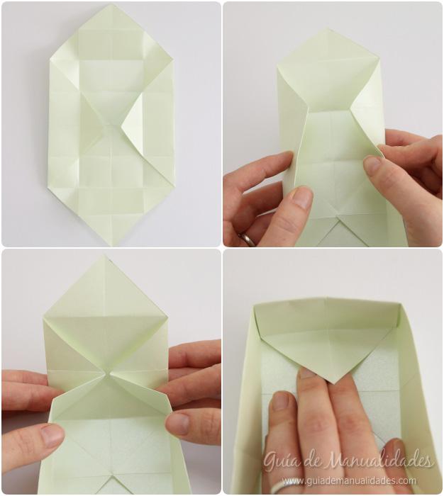 Cajas organizadoras de origami gu a de manualidades - Cajas forradas de papel ...