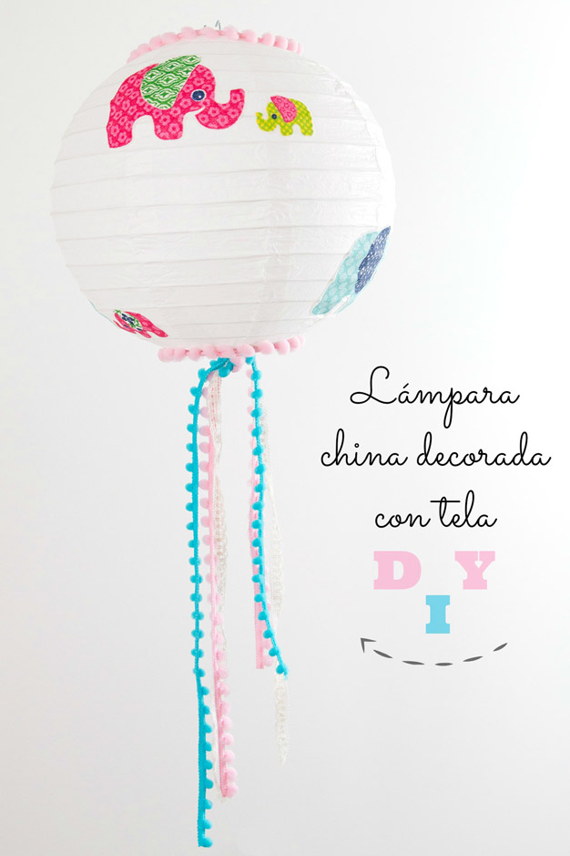 Lámpara china decorada 1