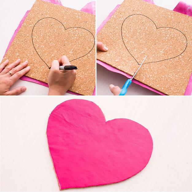 Mouse pad corazón 2
