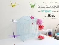 imagen Cómo hacer grullas de origami y armar un móvil