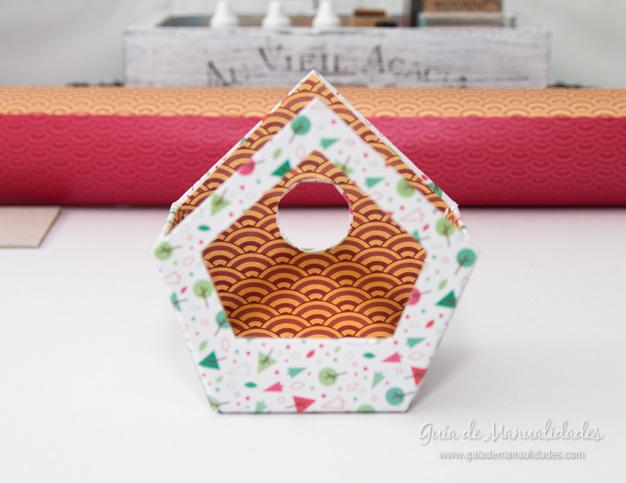 Casa pájaros cartón 13