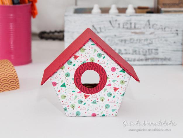 Casa pájaros cartón 17
